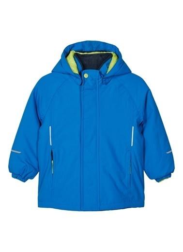 Name It Name It 13177618 %100 Polyamid Düz Su ve Rüzgar GeÇirmez Erkek Çocuk Kapüşonlu Kayak Montu Mavi